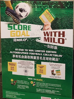 Score goals with Milo - there are limited edition autographed football collectibles to be won every week.