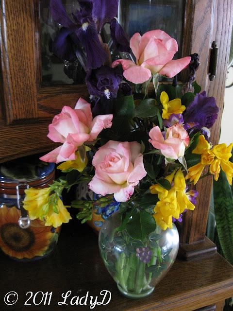 flower arrangement: LadyD Books