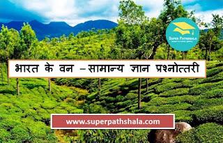 General Knowledge Quiz on Indian Forest | भारत के वन – सामान्य ज्ञान प्रश्नोत्तरी