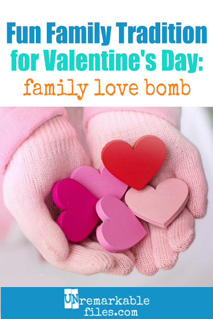 "We've celebrated with lots of fun Valentine's Day ideas for families over the years, but this ""family love bomb"" is my favorite. My kids look forward to it every year! #valentinesday #family"