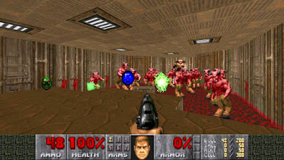 Bonus points for including total ammo counters, which the new DOOM forgot