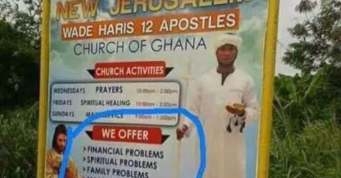 HOW UNA SEE AM: See Church That Offer Problem Instead of Solve Problem
