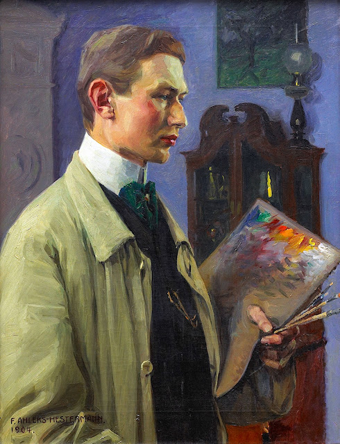 Friedrich Ahlers-Hestermann, Self Portrait, Portraits of Painters, Fine arts, Portraits of painters blog, Ahlers-Hestermann, Paintings of Friedrich Ahlers-Hestermann, Painter Friedrich Ahlers-Hestermann