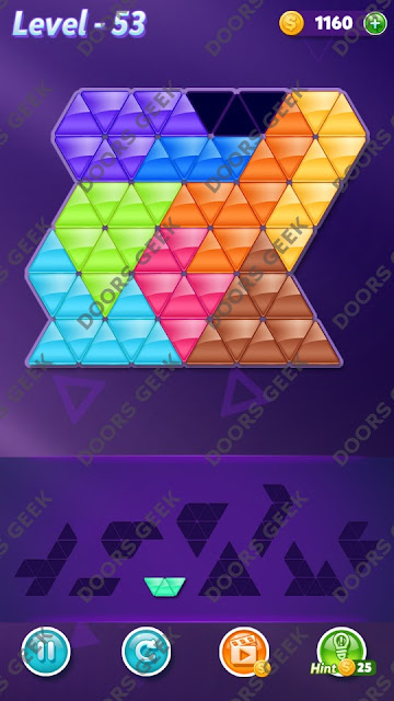 Block! Triangle Puzzle Proficient Level 53 Solution, Cheats, Walkthrough for Android, iPhone, iPad and iPod