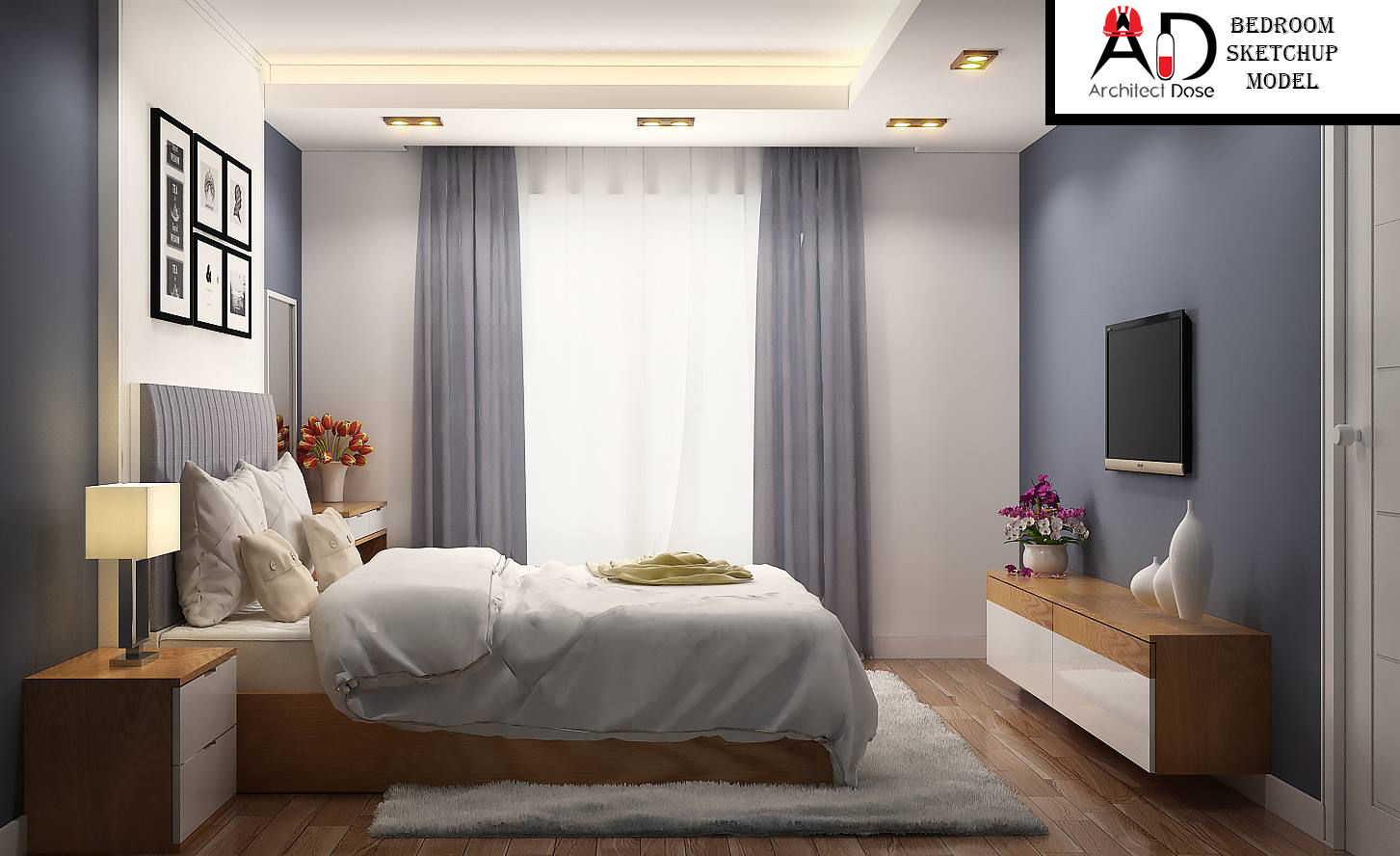 Architect Dose | Architecture, Sketchup, Tutorials, Models on Model Bedroom Design  id=90560