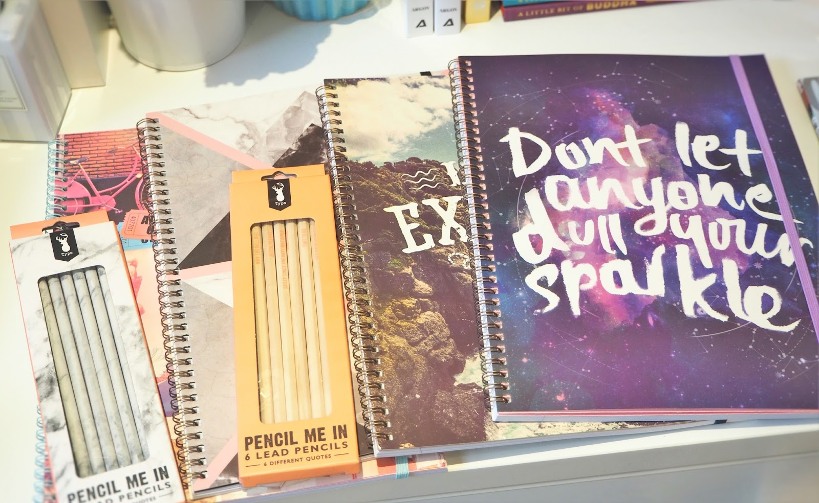 stationery haul with typo