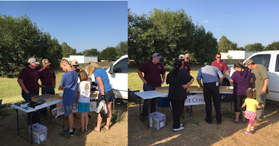 A composite picture showing people at the plant clinic in Clovis, NM in 2015