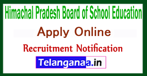 Himachal Pradesh Board of School Education HPBOSE Recruitment Notification 2017 Apply