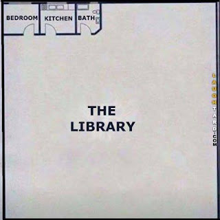 House layout with enormous library.