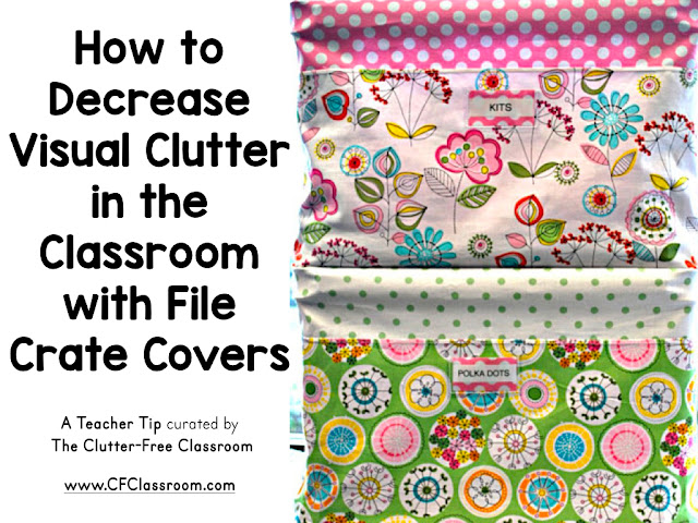 Clutter is distracting to students. This blog post from the Clutter-Free Classroom will show you how to cover your file crates.