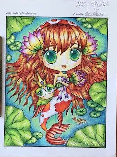 Chibi Coloring tutorial on Facebook page album by Tina Norton