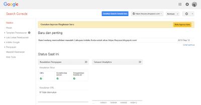 Cara Submit URL Menggunakan Google Search Console Lengkap Agar Terindex Google Terbaru 2018