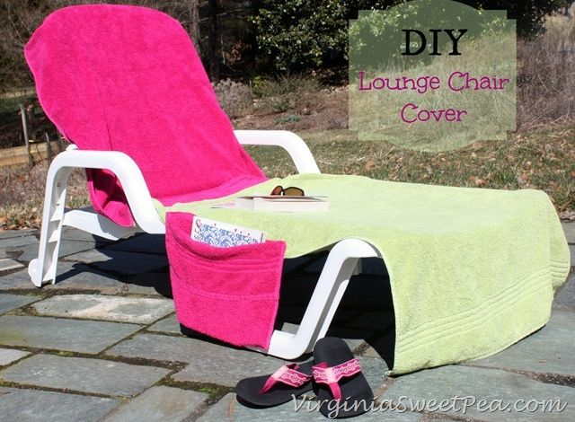 DIY Lounge Chair Cover