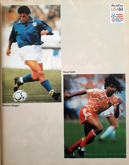 WORLD CUP USA 94  ROBERTO BAGGIO (ITALIA) DAN RUUD GULLIT (BELANDA)
