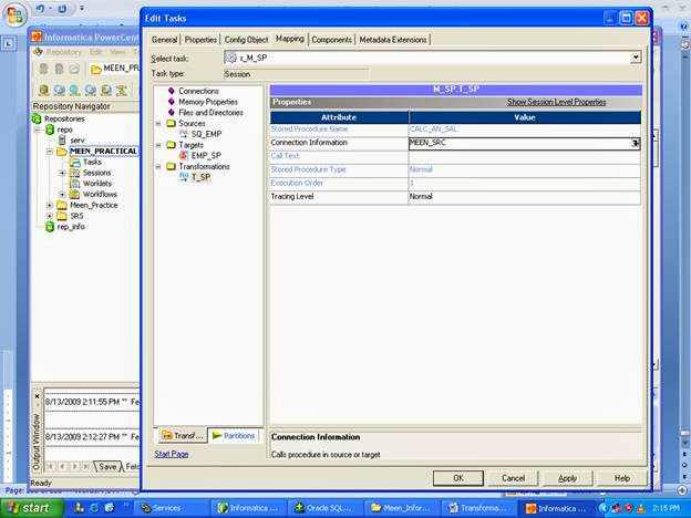 Stored Procedure Transformations In Informatica