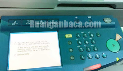Ketahui daftar kode error mesin fotocopy ir3300