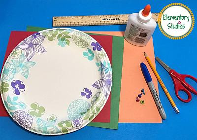 Paper Plate Clock Making Craft