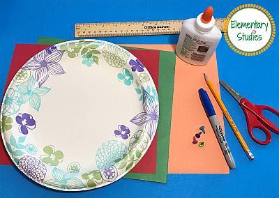 Paper Plate Clock Making Craft