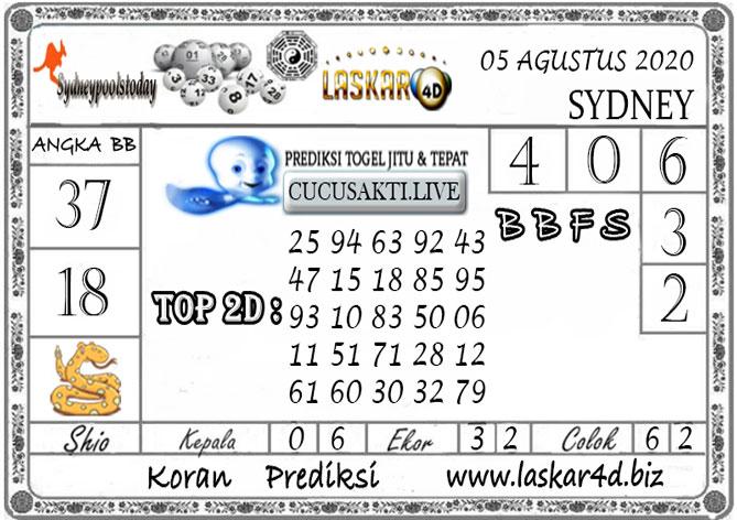Prediksi Togel SYDNEY LASKAR4D 05 AGUSTUS 2020
