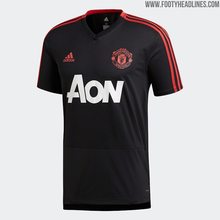 new product dcfba db84d Pink + Black Adidas Manchester United 18-19 Training Kits ...