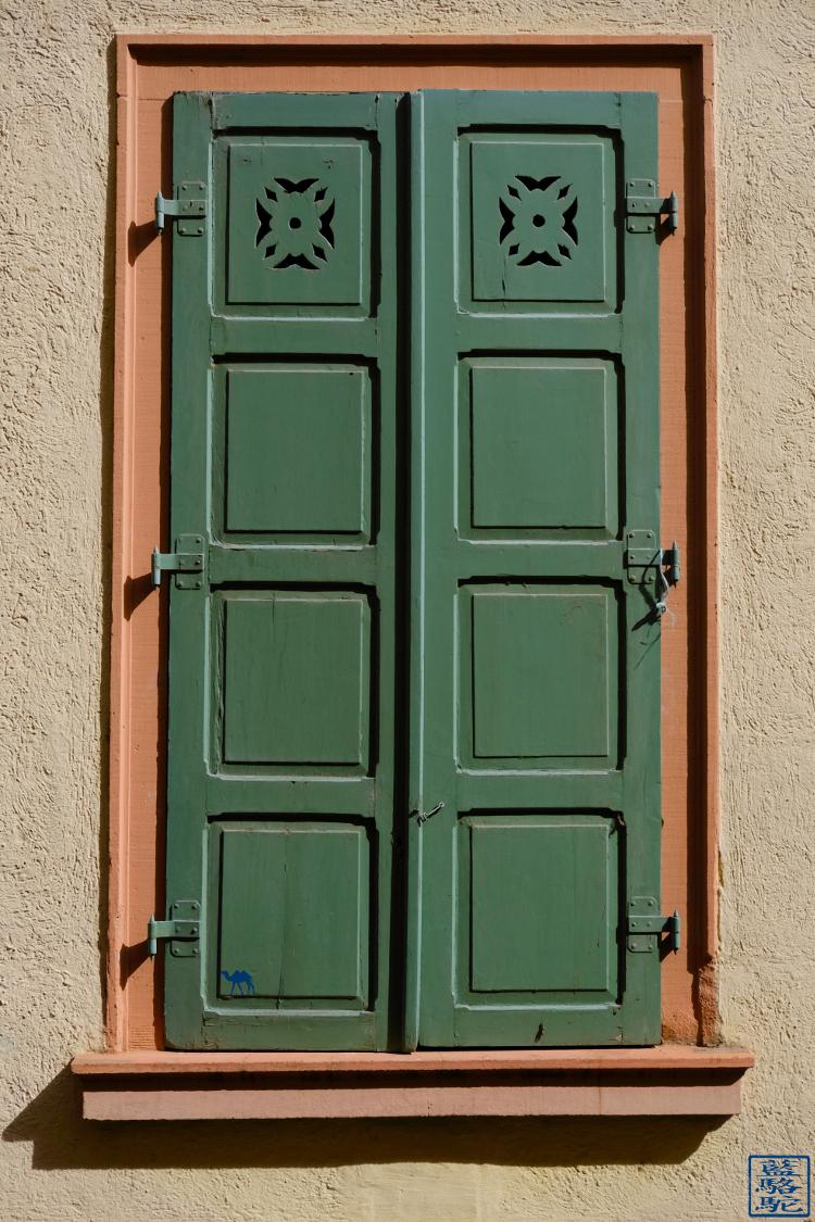 Le Chameau Bleu -Blog Voyage Heildeberg Allemagne -  Volet fenêtre Heidelberg altstadt - Allemagne