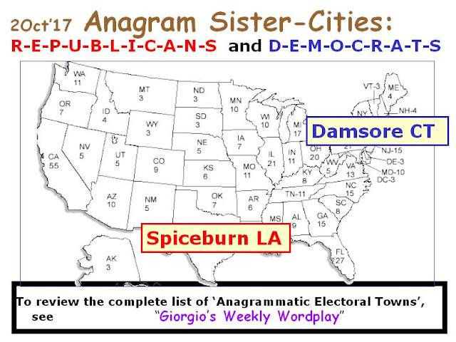 REPUBLICANS: Spiceburn LA.  DEMOCRATS: Damsore CT.