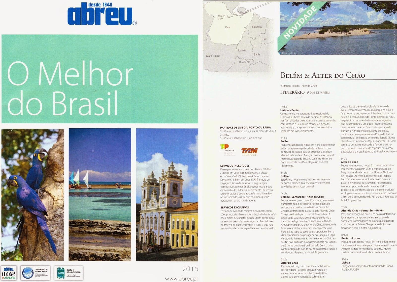 dcd036b442 Capa e roteiro especial para Belém e Alter-do-Chão no catálogo promocional
