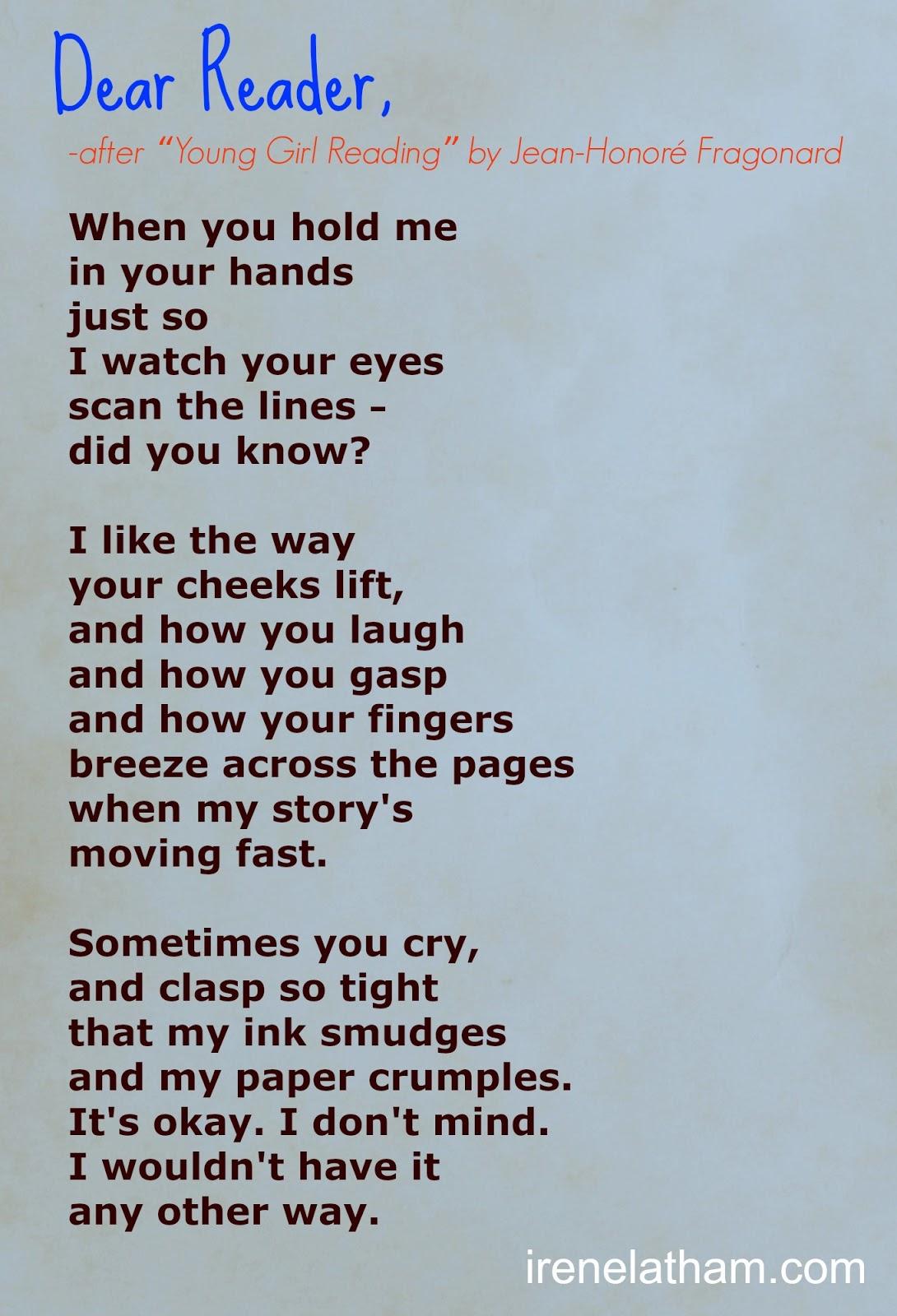 Live Your Poem Artspeak Poem 30 Dear Reader