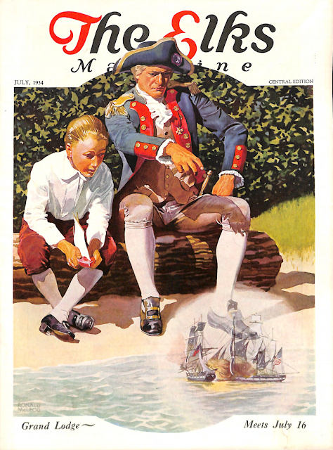 July 1934 cover for The Elks magazine by Ronald MacLeod