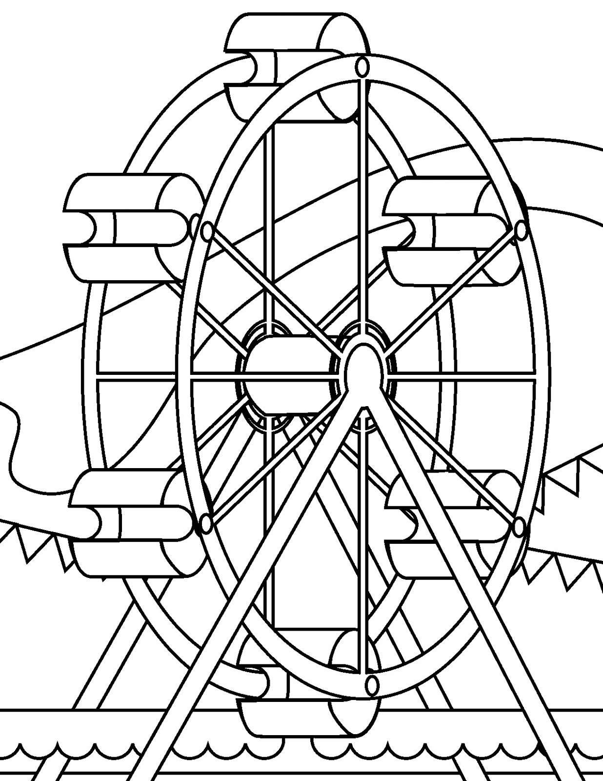 Picture Miscellaneous Coloring Sheets Amusement Park Coloring Pages