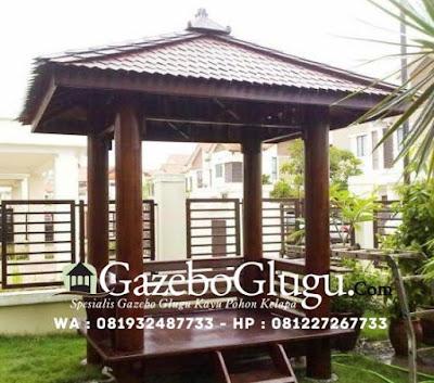 Gazebo Kayu Pohon Kelapa / Glugu