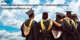 Jadwal PMB 2016
