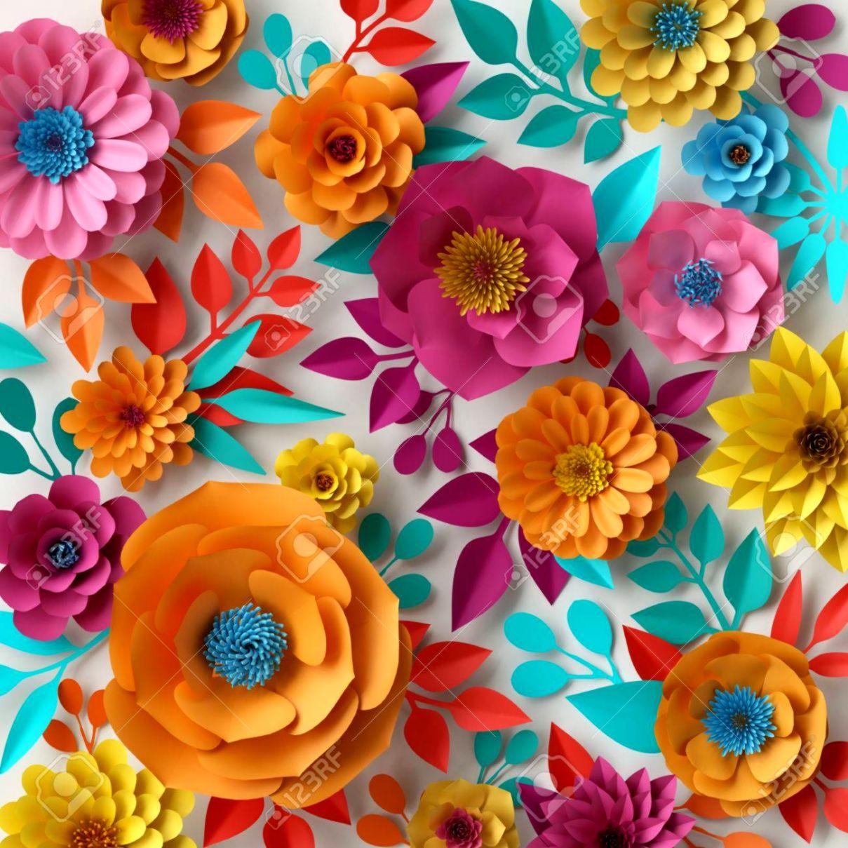 3D Wallpaper Of Spring Flowers