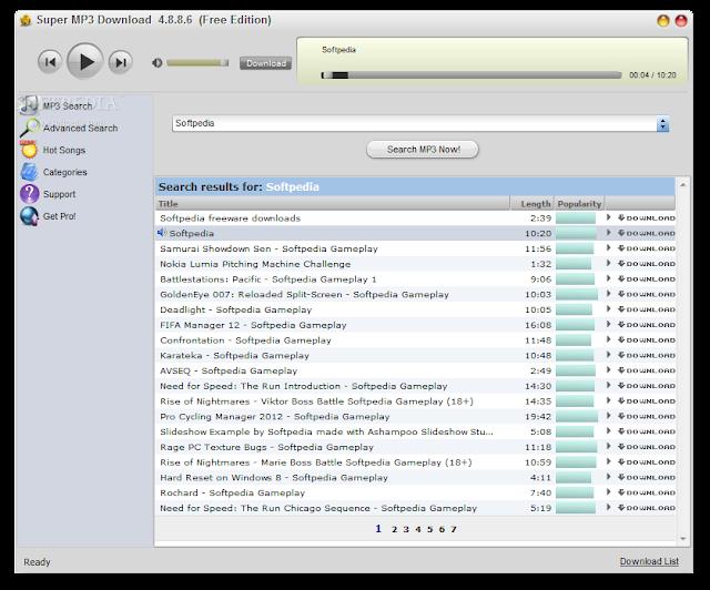 تحميل برنامج تنزيل الاغاني للكمبيوتر Super MP3 Download