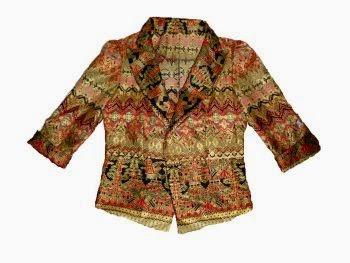 Model baju batik kantor, baju batik wanita kerja