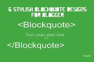 blogger blockquote widget