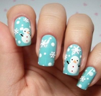Estilo de uñas estilo invernal.