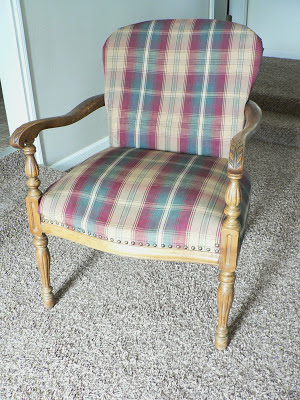 For The Love Of It Antique Chevron Reupholstered Arm Chair