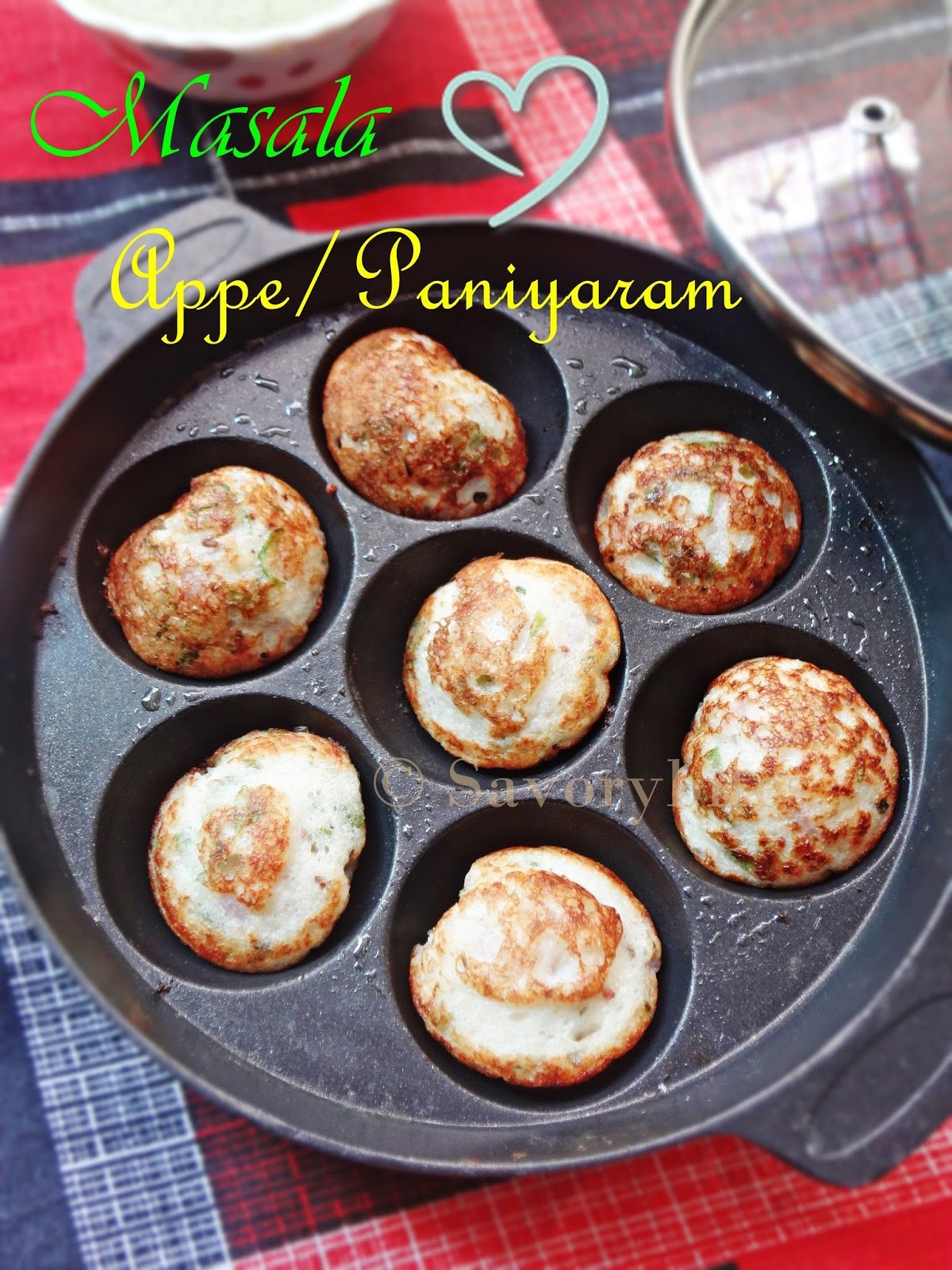 Masala Appe Paniyaram South Indian Breakfast Indian Vegetarian