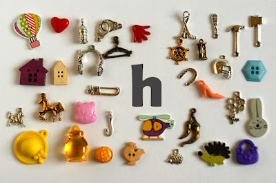 TomToy Individual letter H I spy trinkets for alphabet, Miniature abc objects, Montessori alphabet. Sorting toddler activities