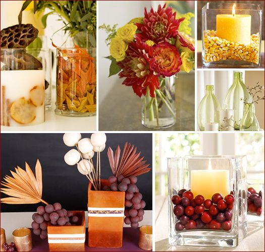Home Christmas Decoration: 10 Thanksgiving Centerpiece