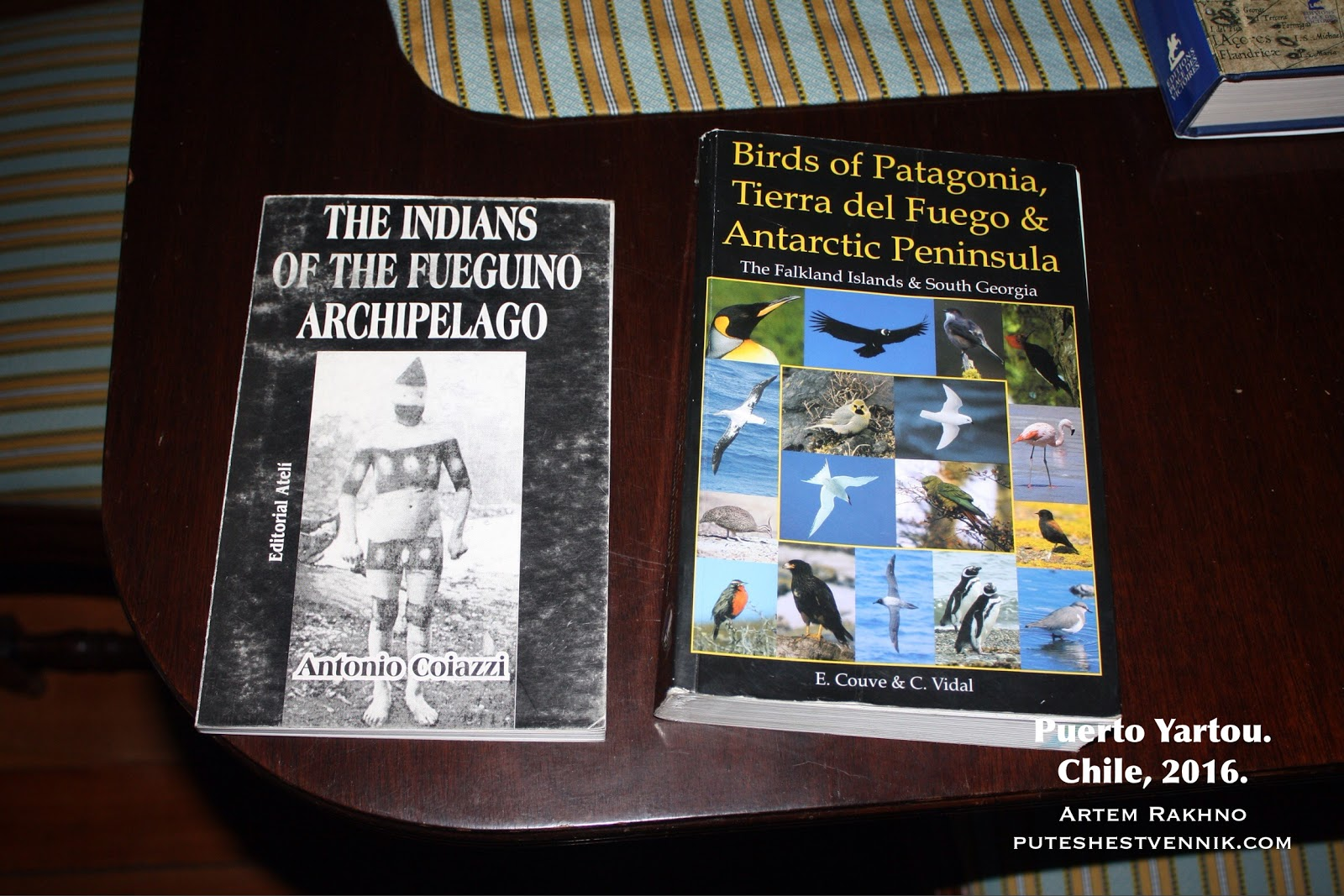 Научные книги на столе в доме эстанции