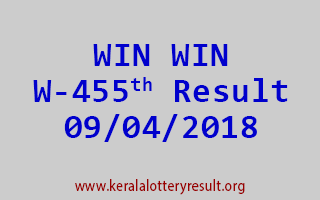 WIN WIN Lottery W 455 Results 09-04-2018