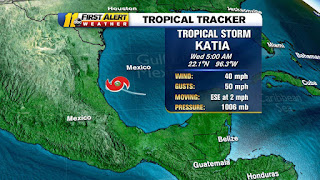 tropical storm Katia