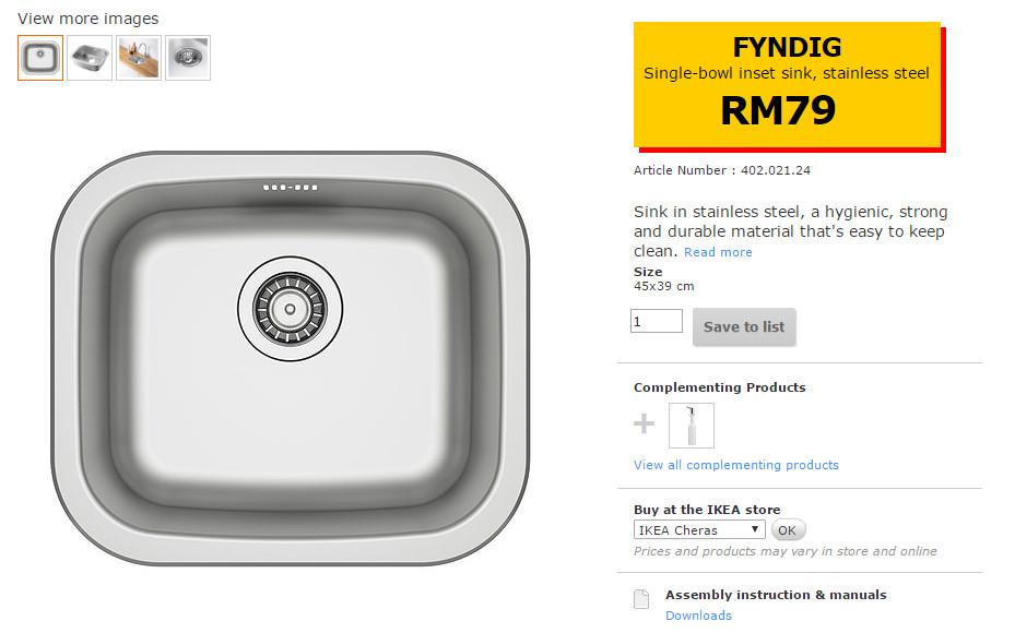 Sinki X 1 Rm 79
