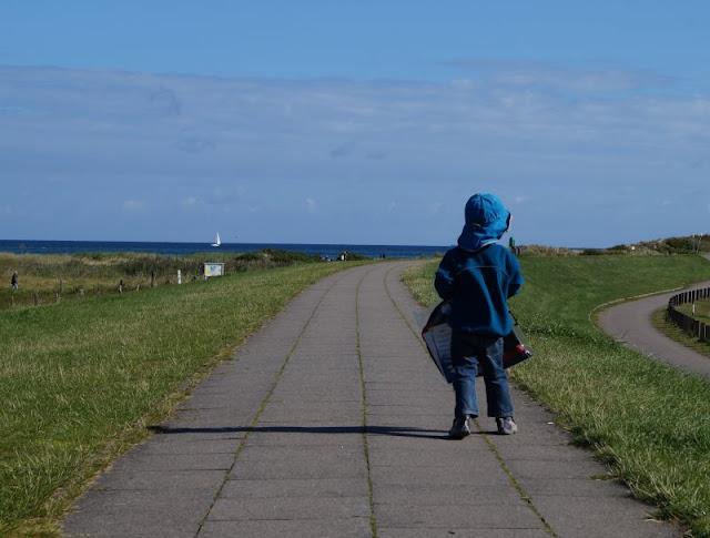 Der Strand von Wendtorf im Naturschutzgebiet Bottsand. Toller Ausblick auf dem Deich!