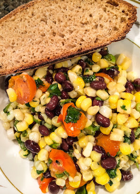 Plan no 5 Lunch - black beans salad with whole wheat bread