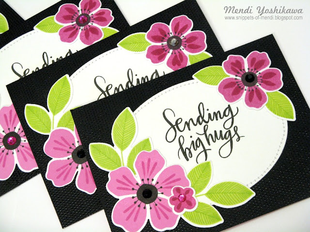 My Favorite Things MFT Flashy Florals May 2016 Card Kit by Mendi Yoshikawa