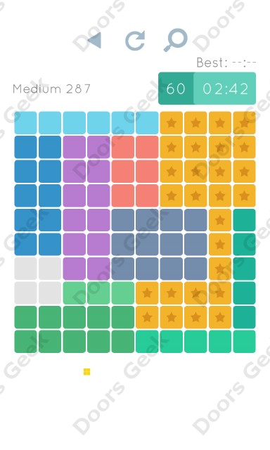 Cheats, Walkthrough for Blocks and Shapes Medium Level 287
