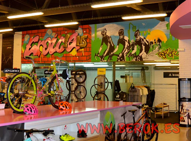 Decoración graffiti interior bicicletas